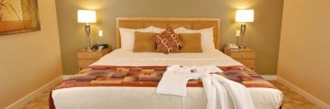 king size bed in Orange Tree Resort, Phoenix